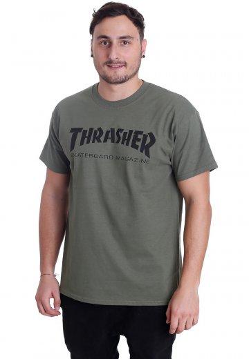 Thrasher Thrasher Skate Mag Army T Shirt
