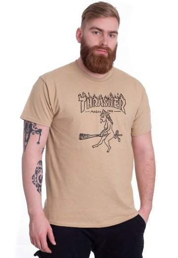 8e67cd1445bc Thrasher - Witch Tan - T-Shirt - Streetwear Shop - Impericon.com US