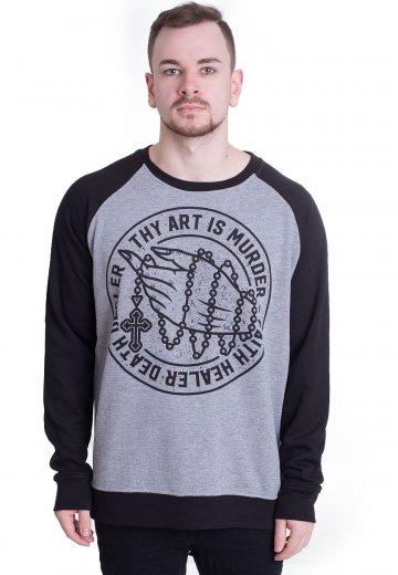 Thy Art Is Murder - Death Dealer Sportsgrey/Black - Sweater