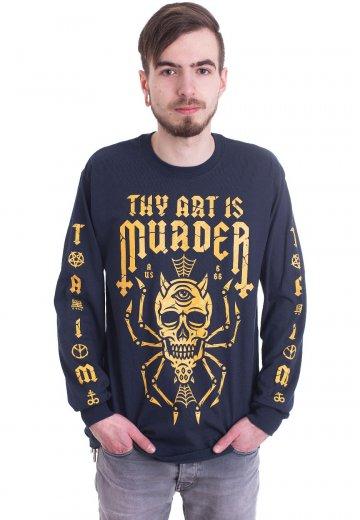 Thy Art Is Murder - Skull Spider Navy - Longsleeve