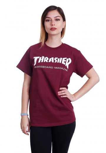 90f140e62a3 Thrasher - Thrasher Skate-Mag Maroon - T-Shirt - Streetwear Shop -  Impericon.com UK