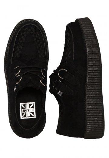 T.U.K. Viva Lo Sole Creeper Vegan Suede Black Girl Shoes