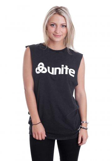 9490c33a1a1df0 Unite Clothing - Trademark Sleeveless Acid Black - T-Shirt - Streetwear Shop  - Impericon.com AU