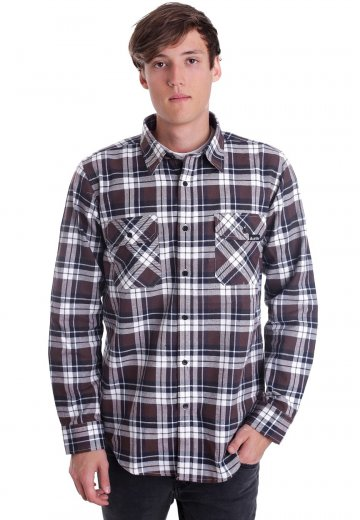 Unite Clothing - Wanderer Button Up Chocolate - Shirt