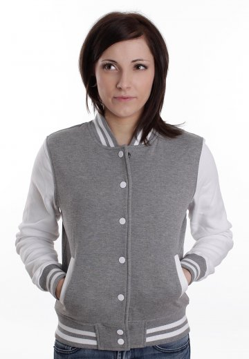 3f80f9c39 Urban Classics - 2 Tone Grey/White - College Jacket