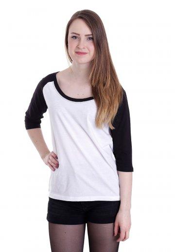 35d8cfd72fd Urban Classics - 3 4 Contrast Raglan White Black - Tshirt manches ...