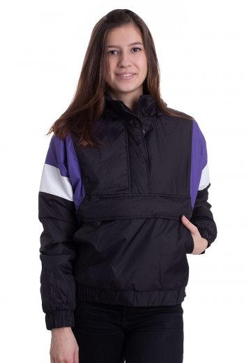 Urban Classics - 3-Tone Padded Pull Over Black/Ultraviolet/White - Jacket
