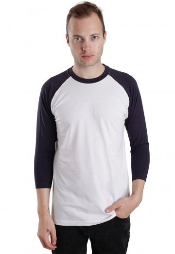a6dde355bac8 Urban Classics - Basic Contrast White Navy - Longsleeve - Streetwear ...