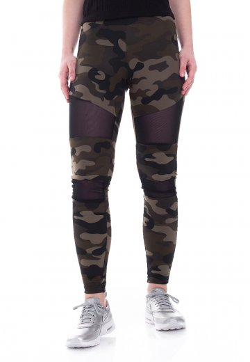 7e0d7682e87485 Urban Classics - Camo Tech Woodcamo/Black - Leggings - Streetwear Shop -  Impericon.com UK