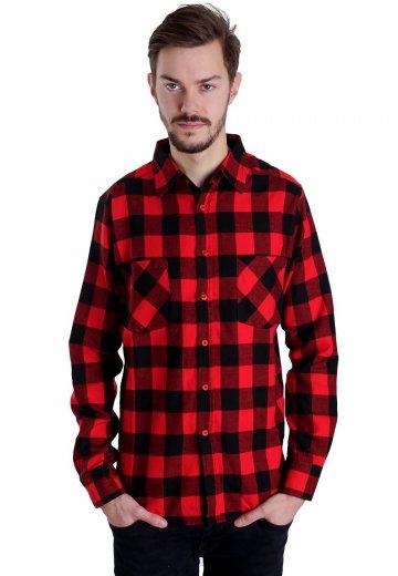 Urban Classics - Checked Flanell Black/Red - Shirt