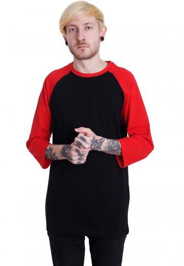 Urban Classics - Contrast 3/4 Sleeve Raglan Black/Red - Longsleeve
