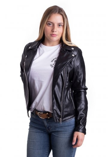 Urban Classics - Faux Leather Biker Black - Jacket - Streetwear Shop ... 434c8dad4c