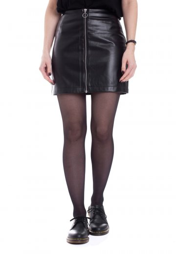 Urban Classics - Faux Leather Black - Skirt