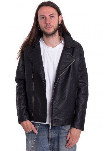 Urban Classics - Leather Imitation Biker - Leather Jacket ... 773798626c