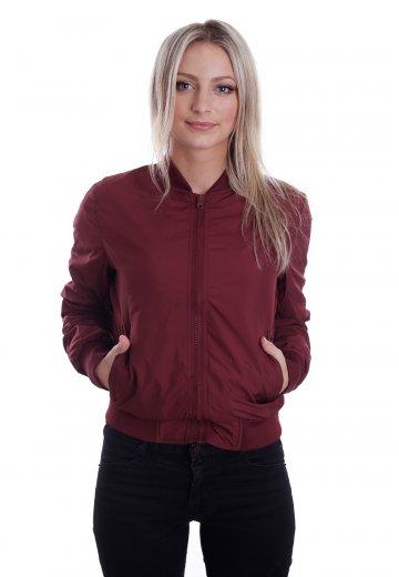 c805ad3f Urban Classics - Light Bomber Burgundy - Jacket - Streetwear Shop ...