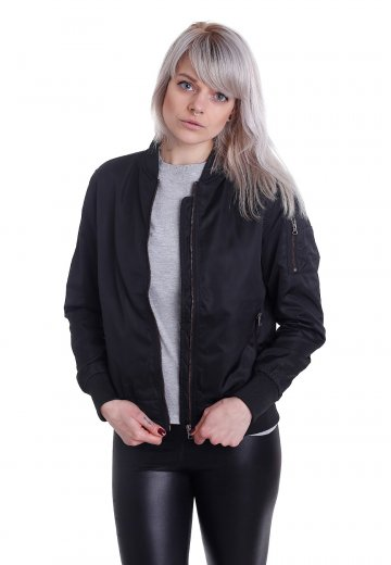 Urban Classics - Nylon Twill Bomber Black/Black - Jacket