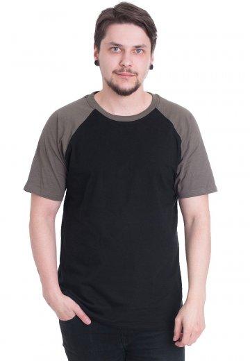 Urban Classics - Raglan Contrast Black/Olive - T-Shirt