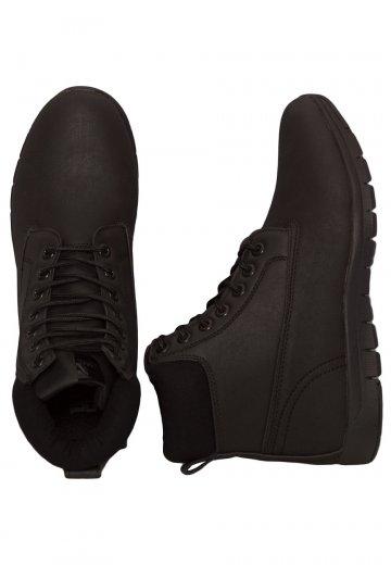 Urban Classics - Runner Boots Black/Black/Black - Girl Shoes