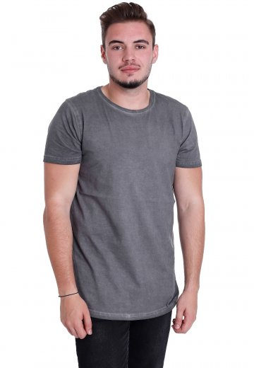 Urban Classics - Shaped Long Cold Dye Darkgrey - T-Shirt