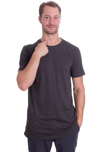 Urban Classics - Shaped Melange Long Charcoal - T-Shirt