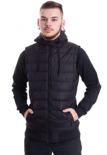 Urban Classics - Small Bubble Hooded Black/Black - Vest