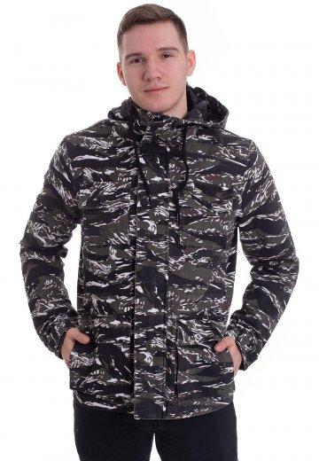 3b6e4563 Urban Classics - Tiger Camo Cotton - Jacket - Streetwear Shop -  Impericon.com Worldwide