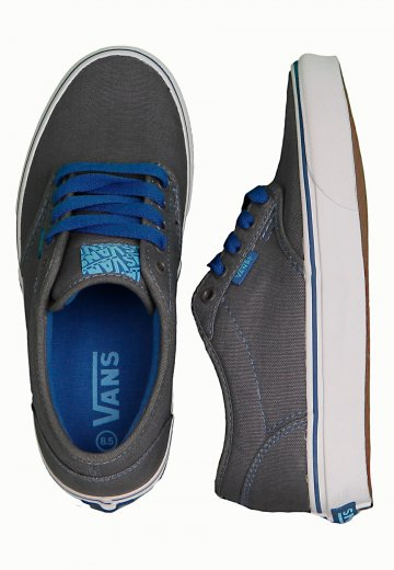 c45d276d8b0c70 Vans - Atwood Grey Teal Blue - Girl Shoes - Impericon.com US