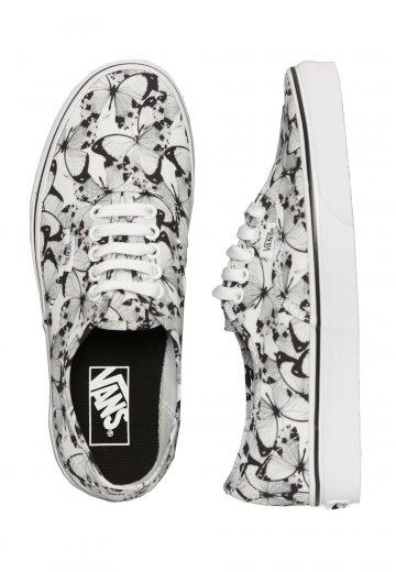 c1b79830cbb720 Vans - Authentic Butterfly True White Black - Girl Shoes - Impericon.com UK