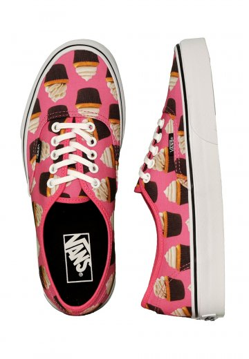 Vans Authentic Late Night Hot PinkCupcakes Girl Shoes