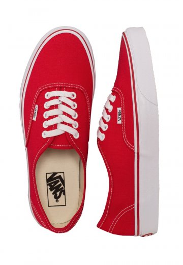 591bf72f38 Vans - Authentic Red/White - Girl Shoes - Impericon.com UK