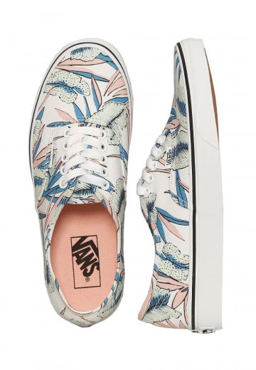 fa98317d12f725 Vans - Authentic Tropical Leaves True White - Girl Shoes - Impericon.com UK
