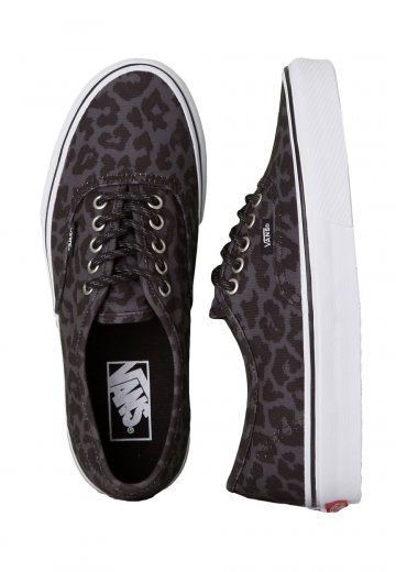 5fead663fdf Vans - Authentic Waxed Leopard Black - Girl Shoes - Impericon.com Worldwide