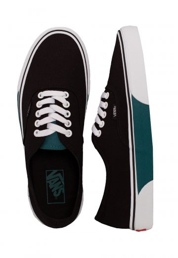Vans - Authentic Color Block Black/Quetzal Green - Shoes