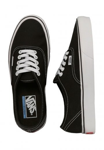 41844b8425 Vans - Authentic Lite Canvas Black White - Girl Shoes - Impericon.com  Worldwide