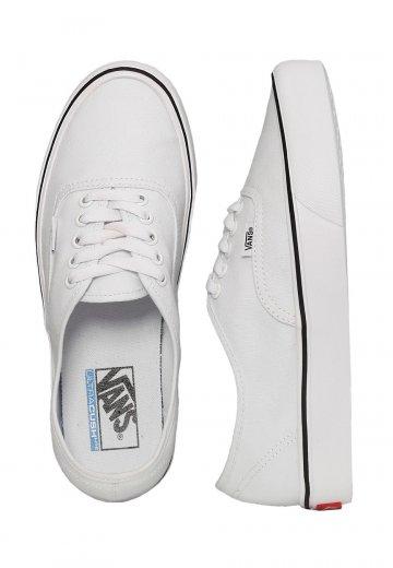 2ea439b96487fd Vans - Authentic Lite Canvas True White - Shoes - Impericon.com UK