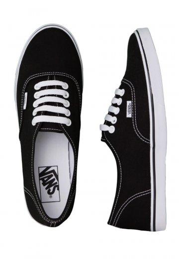 Vans Authentic Lo Pro BlackTrue White Girl Shoes