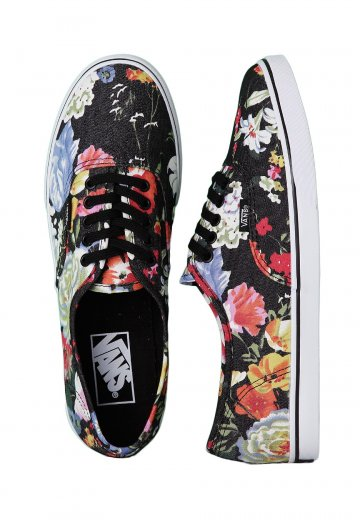 f935a85141 Vans - Authentic Lo Pro Floral Black True White - Girl Shoes -  Impericon.com Worldwide