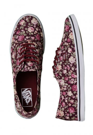 1ae65d59cd659e Vans - Authentic Lo Pro Floral Tawny Port - Girl Shoes - Impericon.com UK