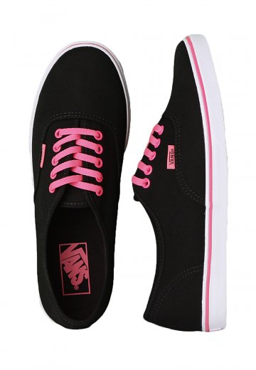 b66ebaf0b7 Vans - Authentic Lo Pro Neon Black Pink - Girl Shoes - Impericon.com  Worldwide