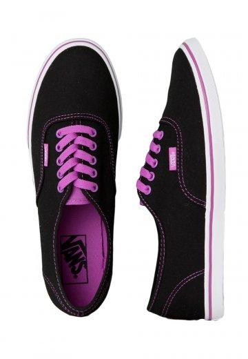 e828a9a21a80 Vans - Authentic Lo Pro Neon Black Purple - Girl Shoes - Impericon.com  Worldwide