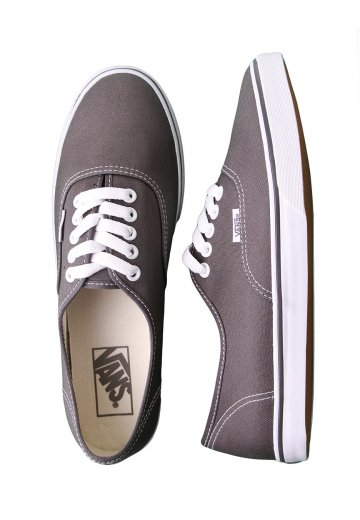 Vans - Authentic Lo Pro Pewter True White - Girl Shoes - Impericon.com UK 60640bdaf9
