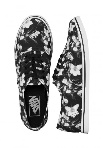 43e0f9f755 Vans - Authentic Lo Pro Blurred Floral Black True White - Girl Shoes -  Impericon.com Worldwide