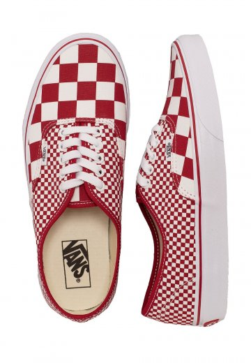 Vans - Authentic Mix Checker Chili Pepper - Shoes