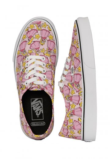 low priced 07f7b 7aac9 Vans X Nintendo - Authentic Nintendo Princess Peach - Girl Shoes