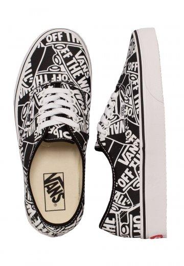 ae265e30818de8 Vans - Authentic OTW Repeat Black White - Girl Shoes - Impericon.com UK
