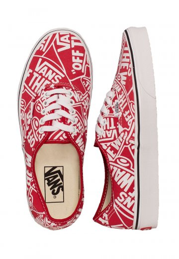 Vans - Authentic OTW Repeat Red/True White - Girl Shoes