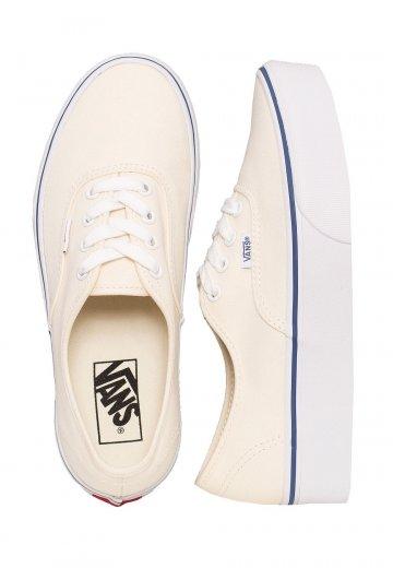 ff6139075ff8ee Vans - Authentic Platform 2.0 Canvas Classic White True White - Girl Shoes  - Impericon.com UK