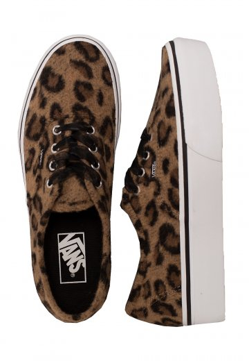 Vans - Authentic Platform 2.0 Fuzzy Leopard - Girl Shoes