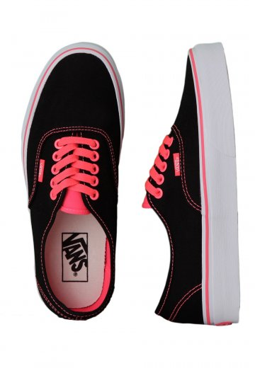 3ed030a15c Vans - Authentic Pop Black Neon Red - Girl Shoes - Impericon.com Worldwide