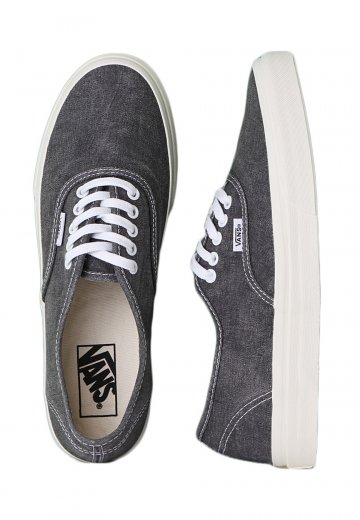2548a7a280d Vans - Authentic Slim Washed Black - Girl Shoes - Impericon.com Worldwide